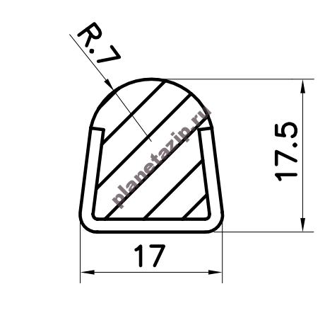 Профиль скольжения PR7WS / PR7WSS / PR7BS / PR7BSS