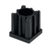 Заглушка резьбовая для трубы 50х50X1,5 резьба М16 41656 – изображение 2