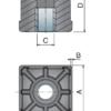 Заглушка резьбовая для трубы 50х50X1,5 резьба М16 41656 – изображение 3