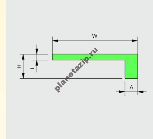 Профиль пластиковый   (L) 20х5,5 AVE P20254