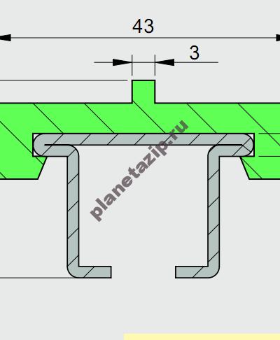 izobrazhenie 2021 07 31 110949 400x486 - Профиль ограждения с металлом 43X10 AVE P20285