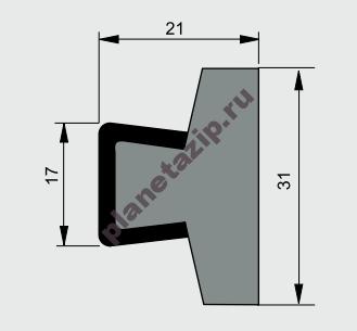 izobrazhenie 2021 07 31 111405 - Профиль ограждения с металлом CSS10030