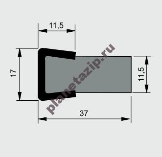 izobrazhenie 2021 07 31 111620 - Профиль ограждения с металлом AVE CSS10060
