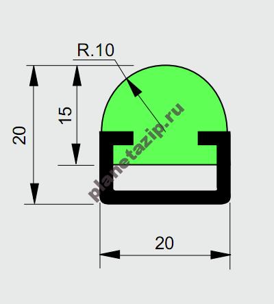 izobrazhenie 2021 07 31 112029 400x444 - Профиль ограждения с металлом R10 AVE P20350