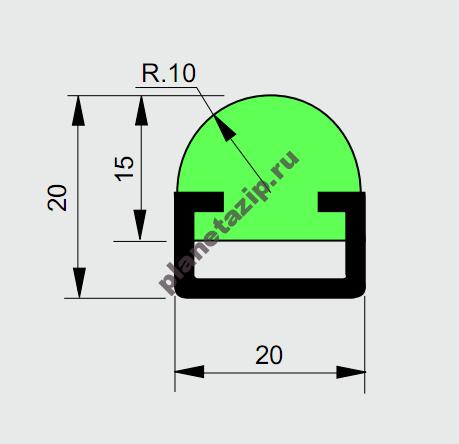 Профиль ограждения с металлом R10 AVE P20350