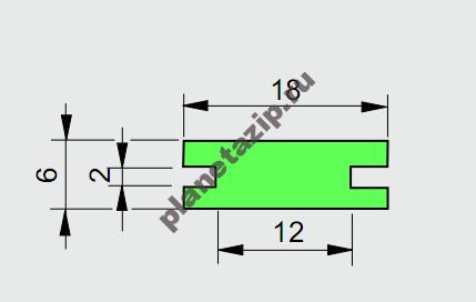 Профиль ограждения  AVE P20354