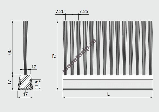izobrazhenie 2021 08 01 090827 - Профиль ограждения с металлом и щеткой AVE CSS 1010x05