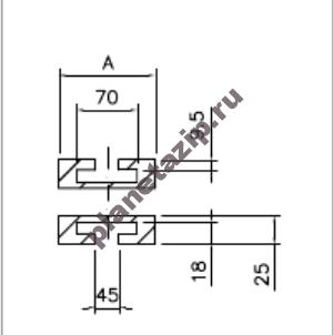 izobrazhenie 2021 08 01 105012 - Сектор поворотный одноручьевой цепи 880,881ТАВ К325 R500/90 k=82.5мм СТ182111