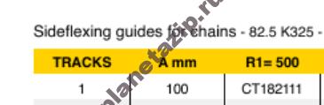 izobrazhenie 2021 08 01 105333 - Сектор поворотный одноручьевой цепи 880,881ТАВ К325 R500/90 k=82.5мм СТ182111