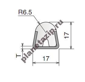 izobrazhenie 2021 08 05 164457 - Профиль пластиковый с металлической вставкой L3m 11901C