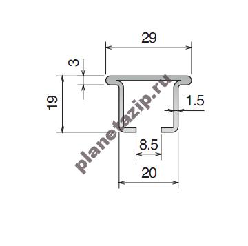 izobrazhenie 2021 08 05 172120 - Профиль металлический 29x19 L3 11202C