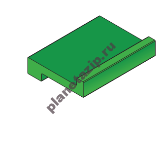 Профиль пластиковый  Z-обр 20х3 10102