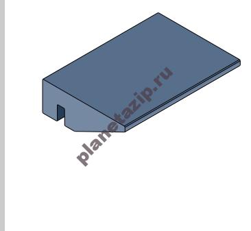 Профиль пластиковый 28х10  L3 для аэроконвейеров 16801B