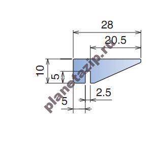 izobrazhenie 2021 08 06 123922 - Профиль пластиковый 28х10  L3 для аэроконвейеров 16801B