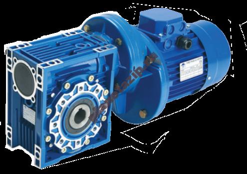 Цилиндро-червячный мотор-редуктор PC071-NMRV090-300-4.7-0.37 с двигателем MS 712-4 sf 0.9 371 Нм